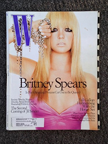 W [magazine], Volume [Vol.] 32, Issue 8, August 2003 [Aug '03] (feature article - Britney Spears)