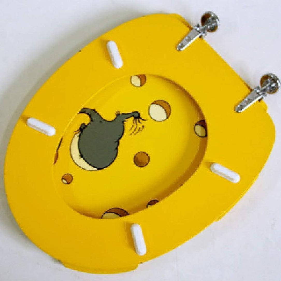麻痺グリース倫理的便座Asiento De InodoroマウスMDF付き便座厚くなっていないトップマウント型超耐性U/O/V型トイレ用ふたを取り付けやすい、A