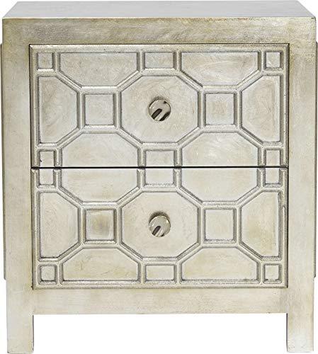 Kare Comodino Alhambra, Argento, 65 x 37.5 x 58.5 cm