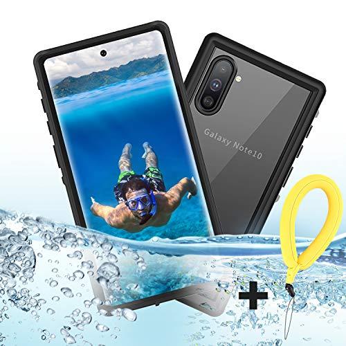Mijobs Funda Impermeable Note 10, [IP68] Funda Protectora a Prueba de Agua de Cuerpo Completo certificada con película Sensible al Tacto/Protectora para Samsung Galaxy Note 10