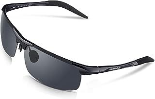 WOOLIKE Sports Sunglasses Men's Style Polarized Sunglasses for Cycling Running Fishing Golf Baseball Unbreakable Al-Mg Metal Frame Glasses WL-819