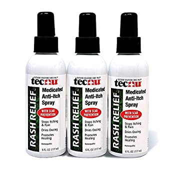 Tecnu Rash Relief Medicated Anti Itch Spray with Scar Prevention 3 Count