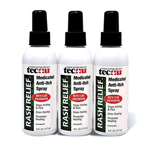 Tecnu Rash Relief Medicated Anti Itch Spray with Scar Prevention, 3 Count