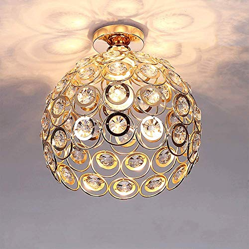 Moderno Lámpara de techo de Cristal 26cm Plafón E27 Iluminación Dormitorio Sala...