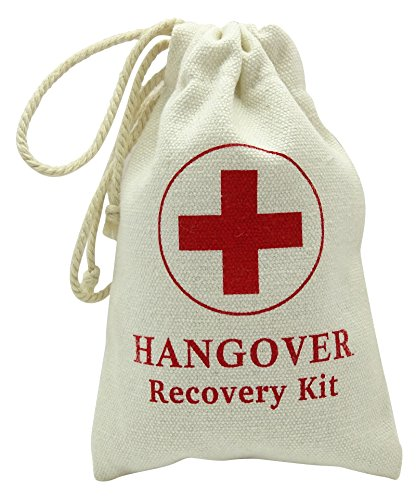 Darling Souvenir Hangover Recovery Kit Canvas Bag Party Favor First Aid Kit Bags for Wedding, New Year, Christmas, Sports, Hen Party 4 x 6 Inch, 10 Pcs