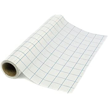 Expressions Vinyl - 12in. x 30ft. Blue-Gridlined Paper Transfer Tape Roll - Perfect Transfer Tape for Vinyl - Medium Tack Adhesive Application Tape Works Great with Oracal 651, 631 and Cricut Vinyl