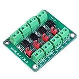 ARCELI PC817 Scheda di isolamento optoaccoppiatore a 4 canali Convertitore di tensione Modulo adattatore 3.6-30V Driver Modulo fotoelettrico isolato PC 817