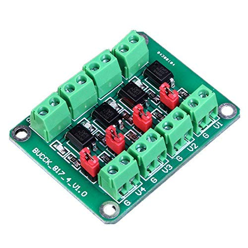 ARCELI PC817 4-Kanal-Optokoppler-Isolationsplatine Spannungswandler-Adaptermodul 3,6-30 V Treiber-photoelektrisches isoliertes Modul PC 817
