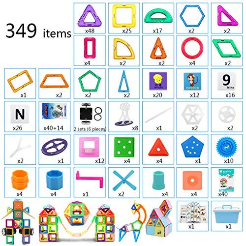 kids toys Blocs de Construction magnétiques, aimants pour Enfants, aimants magnétiques, garçons et Filles de 3-6-8 Ans, Assemblage de Jouets éducatifs, avec Manuel d'instructions