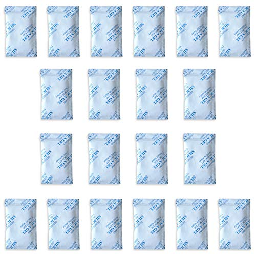 E-Cron 20 x 10 g Trockenmittel Silikagel in Tyvek Päckchen. Reine, sichere und Wiederverwendbare Luftentfeuchter Silikat Beutel. Erneuerbare Granulat Raumentfeuchter Kieselgelbeutel.