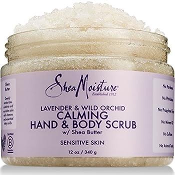Shea Moisture Lavender & Wild Orchid Hand & Body Scrub 12 Ounce  U-BB-2934