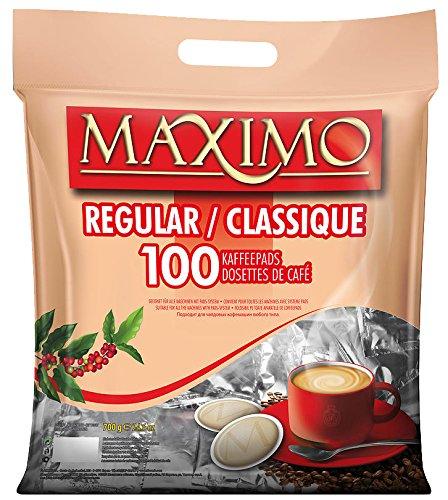 MAXIMO Regular Kaffeepads, 100 Pads 700g - aromasicher verpackt