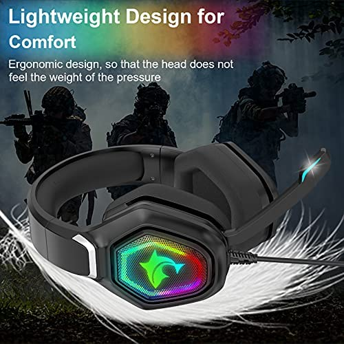 Gaming Headset, with Mic, & LED Light