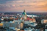 Hannover City Skyline Art XXL Wandbild Kunstdruck Foto