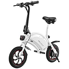 15 MPH & 15MILE RANGE: This electric bike with 350-watt high speed motor can achieve top speed of 20-25km/h, powered by 36V 6Ah battery, with a range of 20km means your e-bike commute just easier CRUISECONTROL : Twist the throttle for 8 seconds to e...
