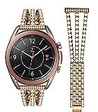 Cinturini Da 20 Mm 22mm Per Samsung Galaxy Active2 Orologio In Acciaio Inox Cinturino Diamantato In Acciaio Inox Watch3/4 Bracciale In Metallo *4* (Color : Rose gold, Size : 22mm)