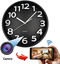 WiFi HD SPY Hidden IP Camera DVR Wall Clock Real-Time Nanny Cam Night Vision, Loop Recording, Micro SD Card