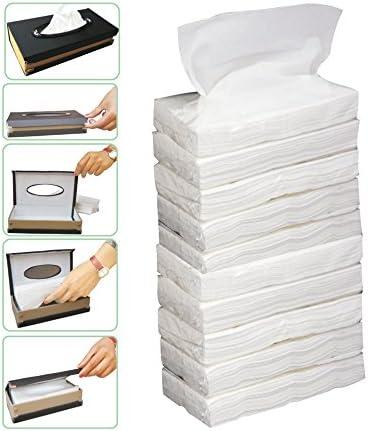 Kozdiko Car Tissue Paper Refiller for Dispenser Box Set of 10 with 200 Sheets(100 Pulls) in Each for All Cars
