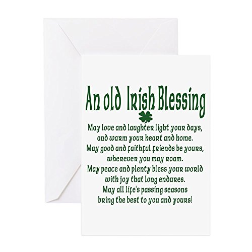 CafePress Old Irish Blessing Greeting Card (20-pack), Note Card with Blank Inside, Birthday Card Glossy
