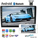 """Camecho Double Din Car Stereo with Bluetooth Android Radio 9"""" 2.5D HD Touch"""