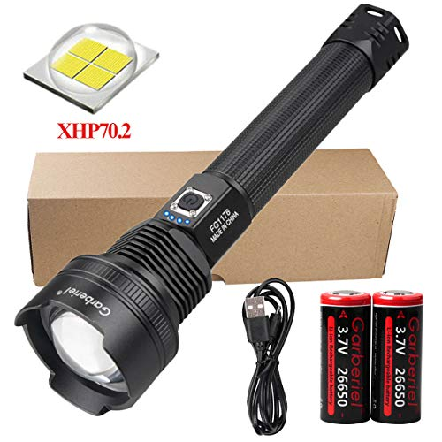 X.Store LED XHP70.2 Flashlight 6000 Lumens Super Bright Tactical Flashlight 3 Modes Zoomable Rechargeable Torch Light (Battery Include)