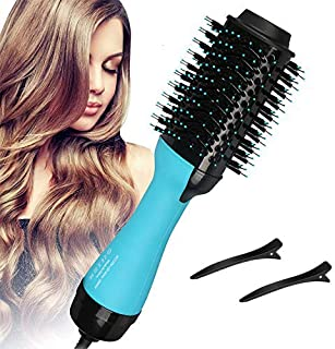 Aleath Hair Dryer Brush, Ionic Hot Air Brush, Blow Dryer Brush with Ceramic Coating for Fast Drying, Professional Salon Hair Dryer&Volumizer Styler for Straightening, Curling, Blow Dry (Mint)