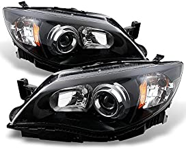 For Subaru Impreza Outback WRX Projector Headlights Black Driver/Passenger Headlamps