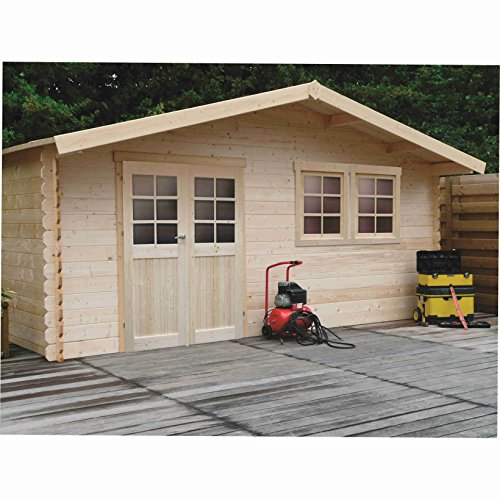 pas cher un bon Cabane de jardin en bois SOLID SUPERIA vernier 538x538x253cm