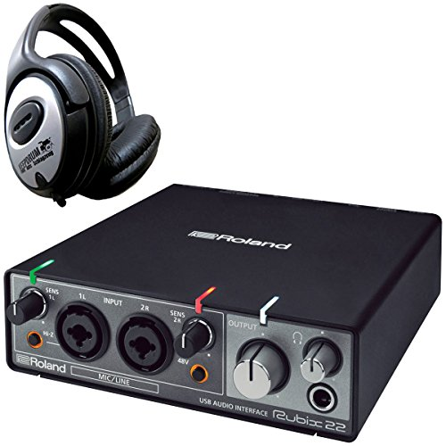 Roland rubix22 USB de audio Interface + Auriculares Keepdrum