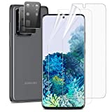 OUNIER [4 Pack] 2pcs S20 Ultra Screen Protector (Case Friendly) Anti-Bubble +2 Pack Tempered Glass S20 Ultra Camera Lens Protector for Samsung Galaxy S20 Ultra 5G (6.9')