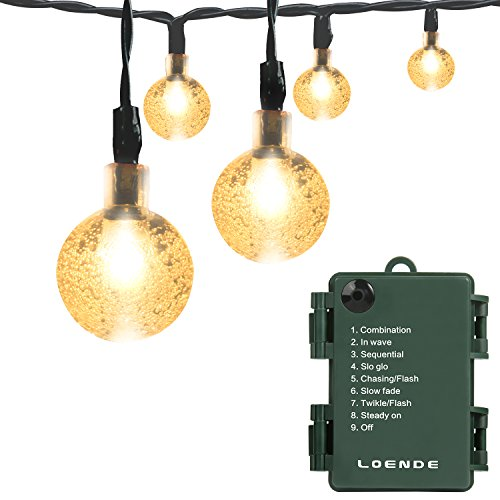 Battery Operated String Lights, LOENDE Waterproof 21FT 30 LED 8 Modes Fairy...