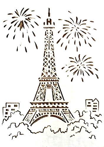 Tasche aus Kunststoff, 30 x 21 cm, Motiv Eiffelturm