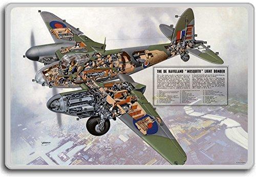 De Havilland Mosquito Light Bomber - Vintage Vliegtuigen en Luchtvaart koelkastmagneet