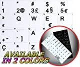 4Keyboard Portuguese Sticker for Keyboard White Background (14x14) for Desktop, Laptop and Notebook