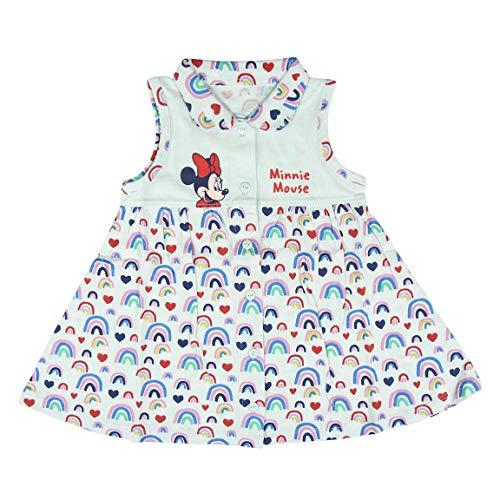 Cerdá Vestidos Bebe Niña 12 Meses Disney Minnie Mouse-Color Azul Bebés