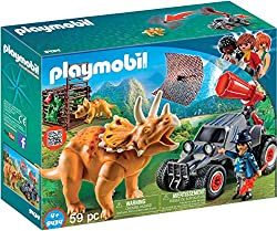 3. PLAYMOBIL Enemy Quad with Triceratops Building Set