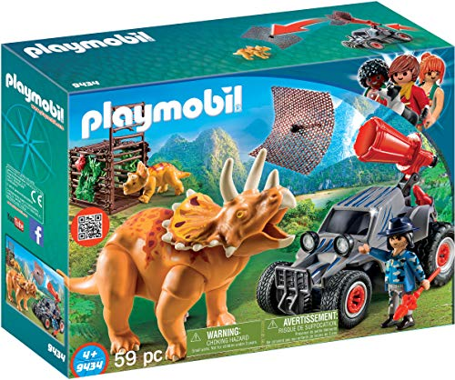 PLAYMOBIL Dinos Coche con Triceratops