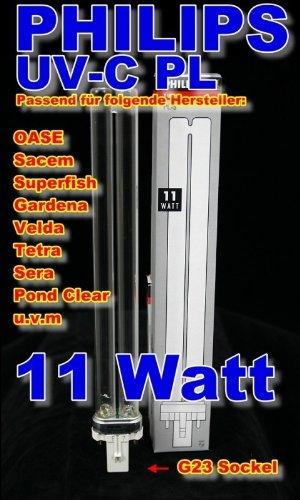2 Stück 11 W Philips UV-C PL Ersatzbrenner 23cm lang