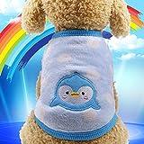 PONNMQ Ropa para Perros de Invierno Soft Fleece Pets Ropa para Perros pequeños y medianos Chihuahua Puppy Dog Shirt Winter Puppy Pet Ropa para Gatos, pingüino, XS 1.2-2KG