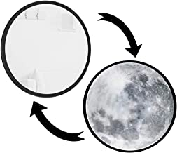 Magic Moon LED Mirror full lunar moon phase mirror set for home wall hanging mirror and living room decoration 25cm