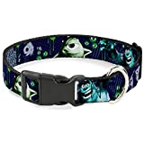 Buckle-Down Plastic Clip Collar - Monsters...