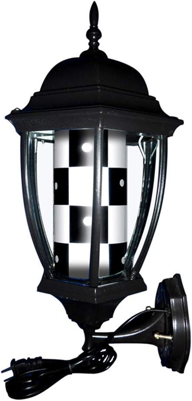 MXHSX Retro Barbierstab Leuchtkugel Weiß schwarz Rotating LED Strips Hair Salon Barber Shop Hairdressing Sign Waterproof Porch Style