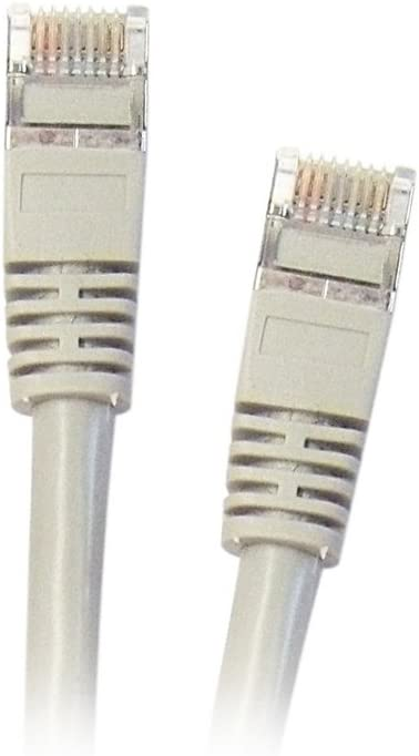 Gray 1 Feet//0.3 Meters eDragon Cat5e Ethernet Patch Cable with Snagless//Molded Boot,