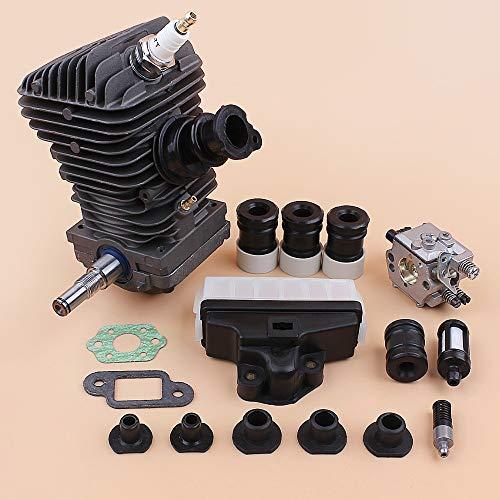 fennirace Conjunto del Motor del Motor de pistón del Cilindro carburador AV Buffer Set for Stihl MS250 MS230 025 023 MS 250 230 42,5 mm Motosierra Recambios