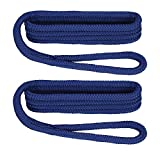 Extreme Max Royal Blue 3/8-Inch x 6-Feet 3006.2171 BoatTector Double Braid Nylon Fender Line-3/8 x 6'