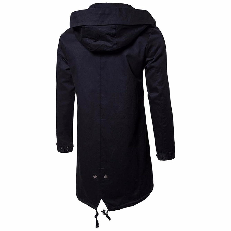 Dreamyth Men's Long Sleeve Waterproof Hoodie Long Style Hooded Sweatshirt Tops Jacket Coat Outwear