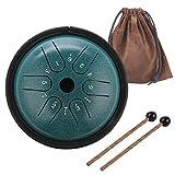 KUD 5.5 Zoll 6 Tone ätherische Trommel Schlagzeug Instrument, Tongue Drum,Steel Pan Töne Schlaginstrument Hand Pan Drum mit...