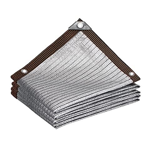 LSSB Lámina De Aluminio Solar Sombra Paño, Heavy Duty Jardín Reflexivo Malla Sombra 75 % Paño De Protección Solar para Patio Invernadero Estanque Cubierta Vegetal, Personalizable