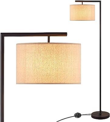 TY-ZWJ American Tissu Lampe de Plancher de Fer, Lampe à Arc Industrielle Classique Verticale avec Abat-Jour pour Chambre à Coucher Salle d'étude Salle de Sol Ajustable Antique