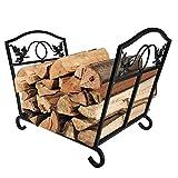 Amagabeli Fireplace Log Holder Firewood Holder Wood Carrier Metal...